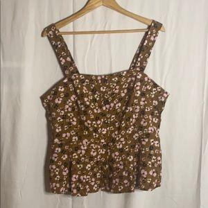 Women's floral peplum blouse EUC Size: XXL